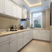 L型大型厨房装饰效果图