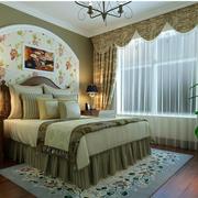 美式简约卧室飘窗装饰