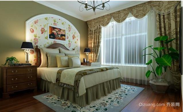 美式乡村小卧室装修效果图