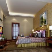北欧简约风格卧室背景墙装饰