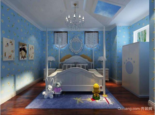 地中海风格别墅窗帘装修效果图