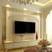 美式简约硅藻泥电视背景墙