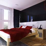 现代化深色房间装饰设计