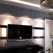 后现代风格经典黑白色电视背景墙装饰