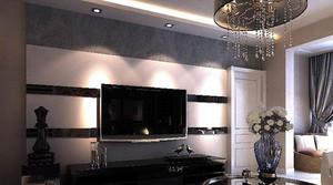 2015年大户型新古典风格客厅电视背景墙装修效果图
