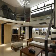 摩登跃层客厅吊顶