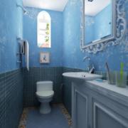 小户型蓝色卫生间