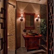 中式风格卫生间简约吊顶装饰