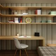 日式简约风格书房置物架装饰