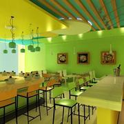 清新绿色火锅店