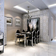 欧式风格深色系餐厅桌椅装饰