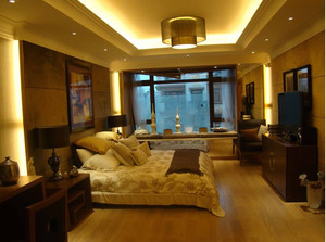 小卧室简约风格飘窗装饰
