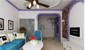 地中海风格入户花园门饰装饰