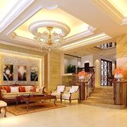欧式客厅石膏线装饰效果图