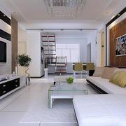 现代客厅沙发背景墙装饰