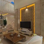欧式客厅印花电视背景墙装饰