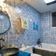 卫生间蓝色背景墙欣赏