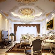 欧式奢华客厅电视背景墙装饰