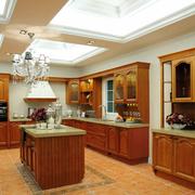 厨房实木橱柜图片