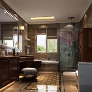欧式经典深色系卫生间装饰