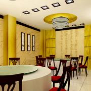 饭店简约风格圆形吊顶装饰