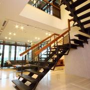 黑色个性新颖楼梯