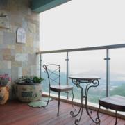 美式简约风格农村房屋阳台桌椅装饰