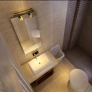 卫生间简约风格浴柜装饰
