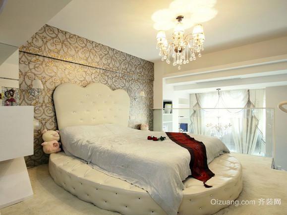 个性时尚卧室水晶吊灯装修效果图