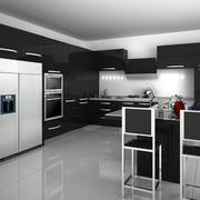 后现代风格深色系厨房装饰