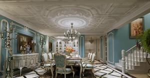 法式奢华风格餐厅吊顶装饰
