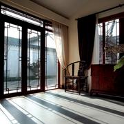 中式别墅阳台门设计