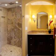 卫生间简约风格淋浴隔断