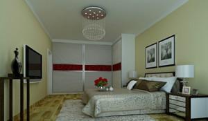 2015欧式风格卧室推拉门装修效果图