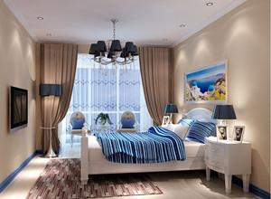 90平米大户型地中海风格卧室背景墙装修效果图