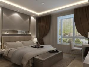 中性冷色调卧室图片