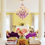 紫色系奢华客厅沙发装饰