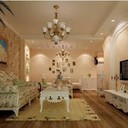 欧式风格客厅灯饰装饰