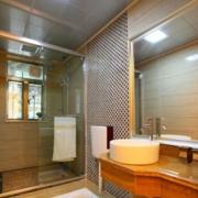 日式简约风格卫生间推拉门装饰