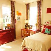 东南亚风格简约卧室背景墙装饰
