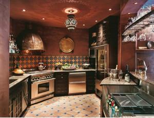 厨房原木简约吊顶装饰