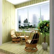 清新简约风格阳台藤椅装饰