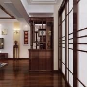 中式简约风格深色系鞋柜装饰