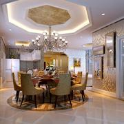欧式复式楼餐厅创意灯饰装饰