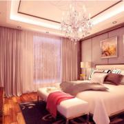 紫色浪漫的卧室吊顶