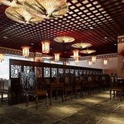中式风格火锅店吊顶装饰