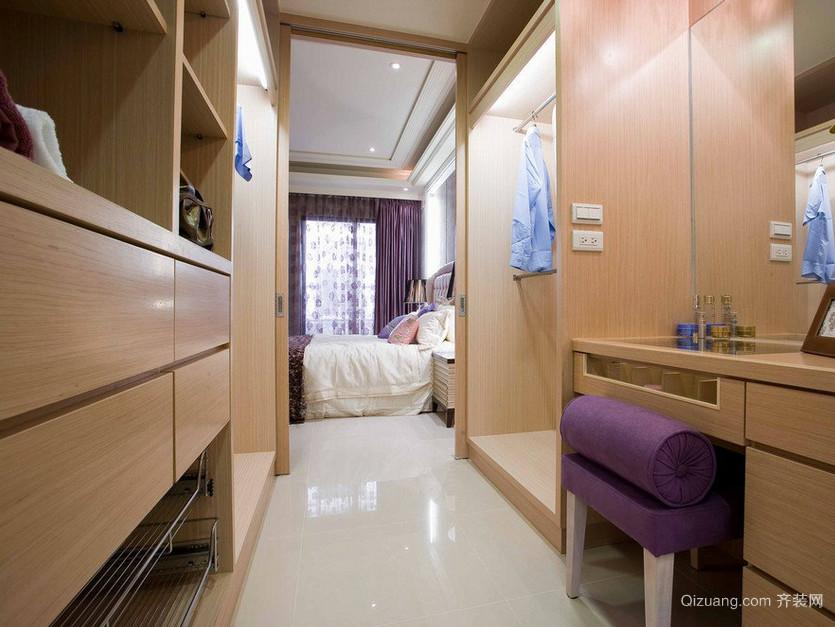 2015大户型现代都市卧室衣帽间装修效果图