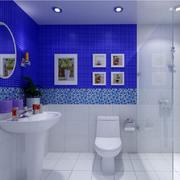 地中海蓝色洗手间
