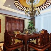 中式简约风格餐厅吊顶装饰