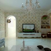 韩式清新印花电视背景墙装饰